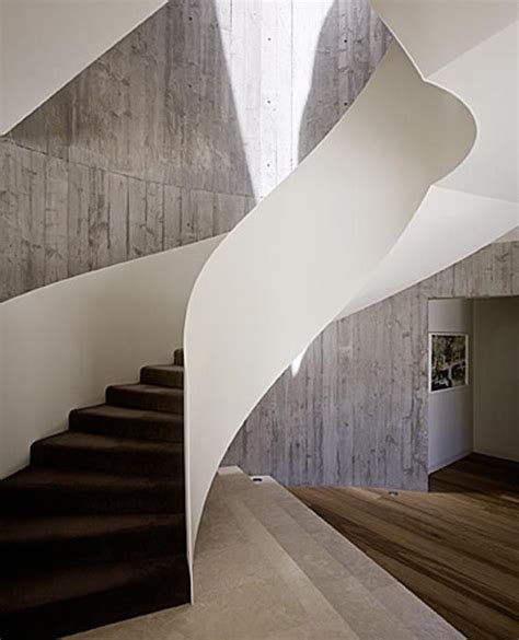 solid banister the yarra house contemporary staircase design by leeton
