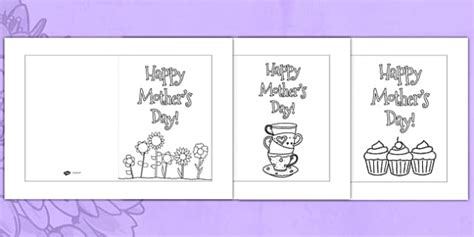 mothers day cards to make in school templates australia s day card templates colouring
