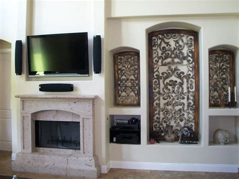 Fireplace Niche by Tv Above Fireplace In Existing Niche Yelp