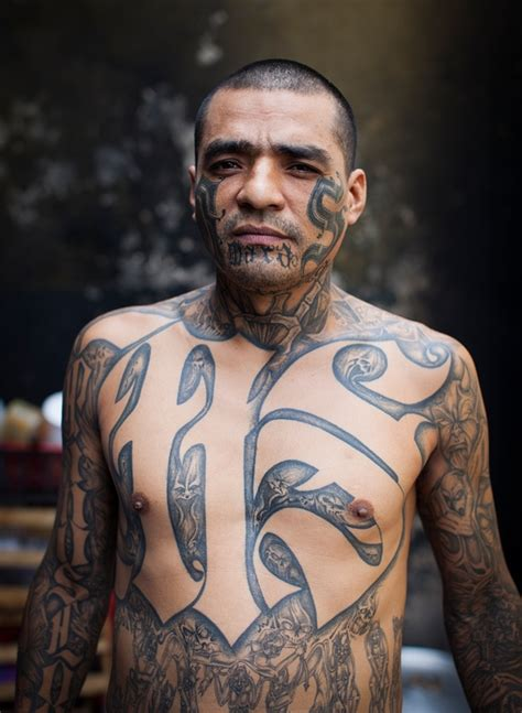 ms 13 tattoo the gangs of el salvador inside the prison the guards are