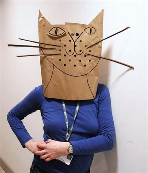 How To Make A Paper Costume - 20 diy paper bag costume ideas hative