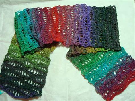crochet pattern sock yarn free pattern nancy s waves scarf in noro sock yarn is