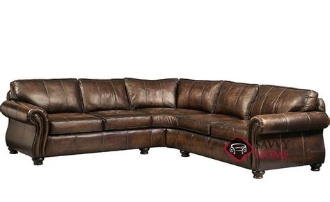 bernhardt leather sectional quick ship van gogh by bernhardt leather true sectional in