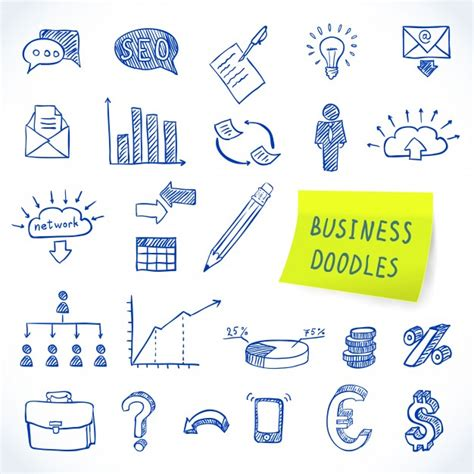 business doodle vector free economy icon vectors photos and psd files free