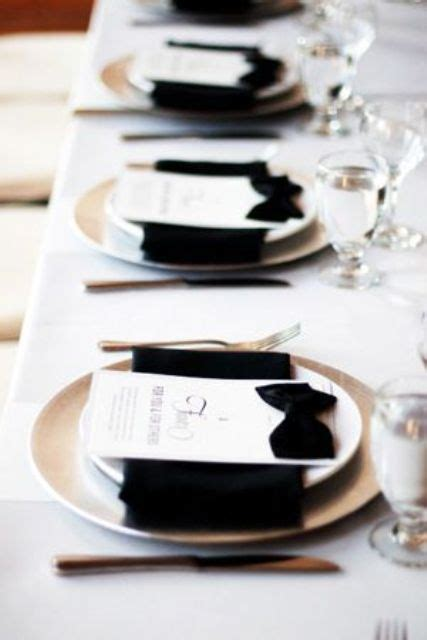 black and white dinner table setting picture of black and white wedding table settings