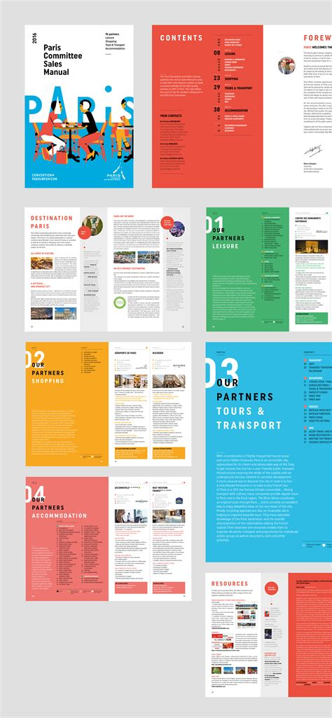 layout of online magazine paris convention and visitors bureau rebranding