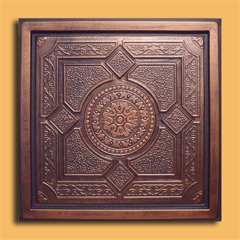 copper drop ceiling tiles 24 quot x24 quot lima antique copper black pvc 20mil ceiling tiles