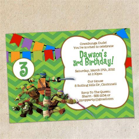 free printable birthday invitations ninja turtles teenage mutant ninja turtles party invitations gangcraft net