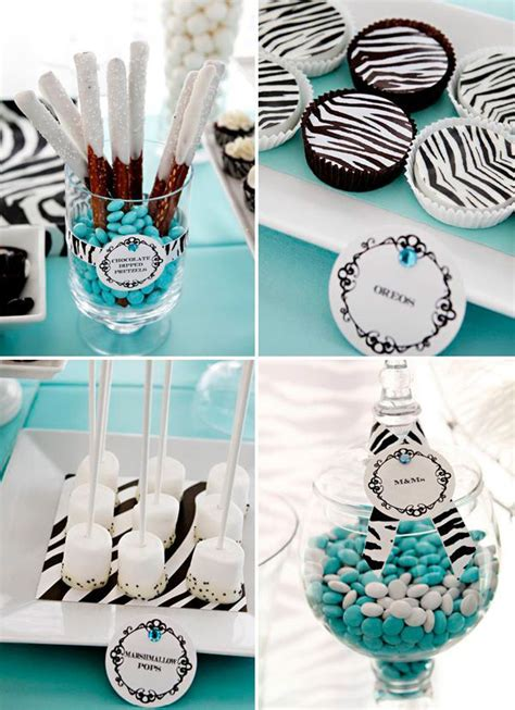 Zebra Print Themed Birthday Party | zebra and tiffany blue party theme