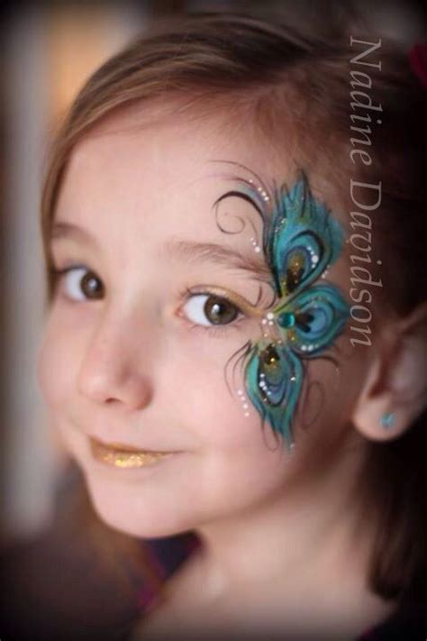 design your dream face peacock feather face painting by nadine davidson nadine