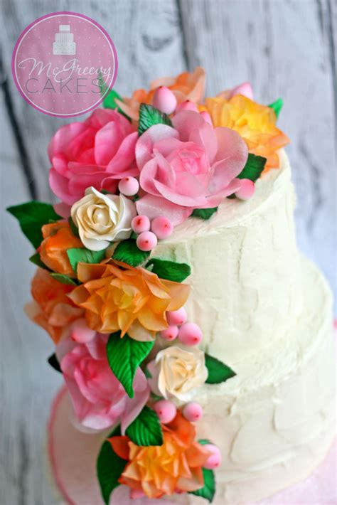 rice paper flower tutorial wafer paper ruffles free video tutorial mcgreevy cakes