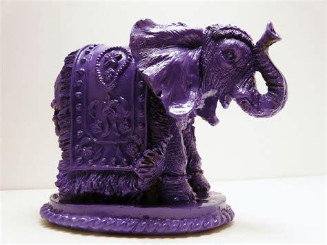 modern bohemia ceramic elephants bohemian elephant figurine purple home decor