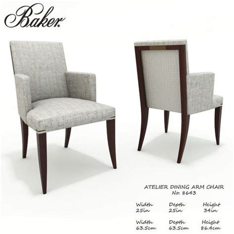 Intotal Verwood Dining Arm Chair 3d Baker Atelier Dining Armchair 8643 Cgtrader