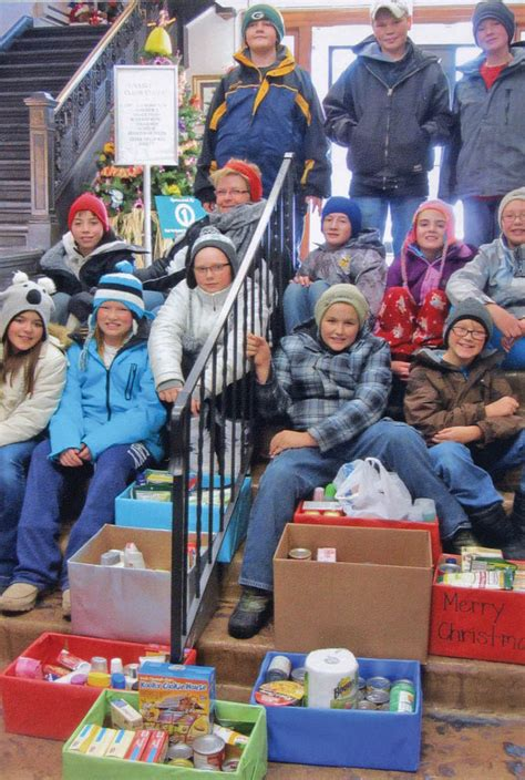 Food Pantries That Deliver by Sixth Graders Deliver Items To Food Pantry Sanborn Journal