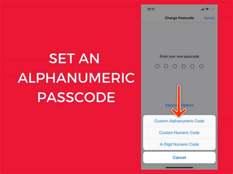 how to set an alphanumeric passcode on your iphone or