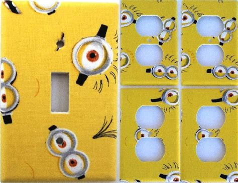 Minion Set Black Or Yellow 169 best light switch covers images on light
