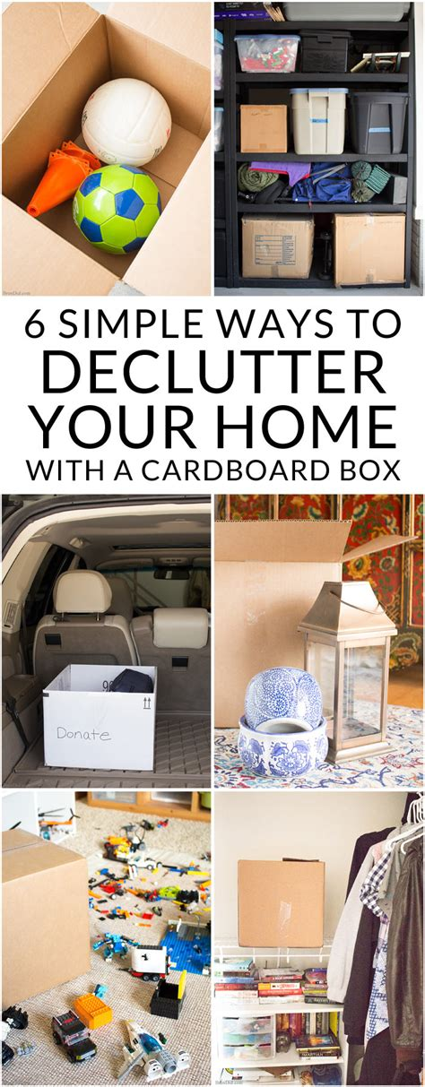 lesson 6 declutter your home 6 simple ways to declutter your home with a cardboard box