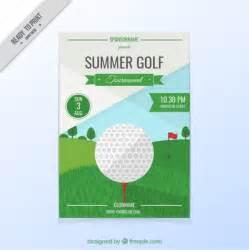 golf flyer template free golf tournament flyer vector free