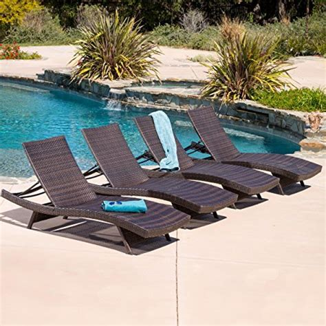Outdoor Pool Lounge Chairs Design Ideas Lakeport Outdoor Adjustable Chaise Lounge Chair Set Of 4 Beachfront Decor