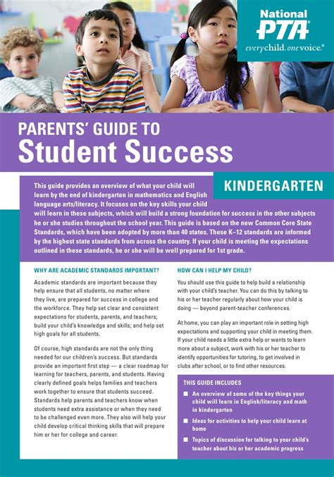s day parents guide kindergarten parent s guide to student success
