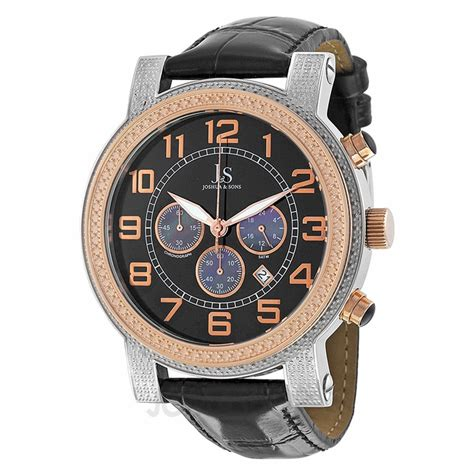 joshua and sons black chronograph s js 07 ttr