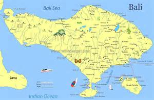 Bali On World Map by Map Of Bali Indonesia