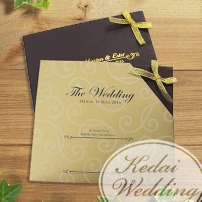 undangan hardcover warna gold undangan pernikahan