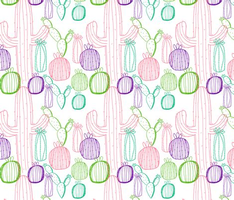 pastel cactus pattern pastel cactus pattern fabric ashandannstudio spoonflower