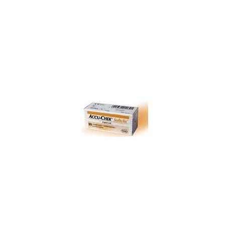 test glicemia accu chek softclix 25 lancette pungidito autotest della