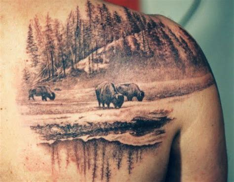 bison tattoo designs amazing buffalo tattoos henna painting