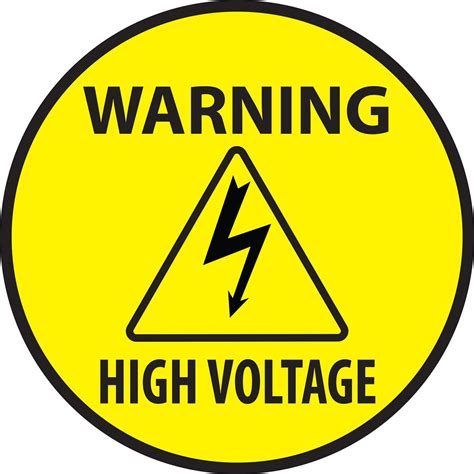 high voltage safety high voltage warning safety decal pre printed vinyl signage