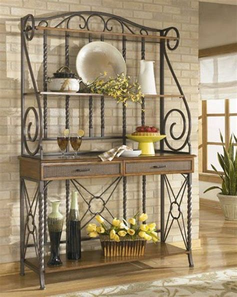 Bakers Rack For Kitchen by 10 Useful Bakers Rack Design Ideas Rilane