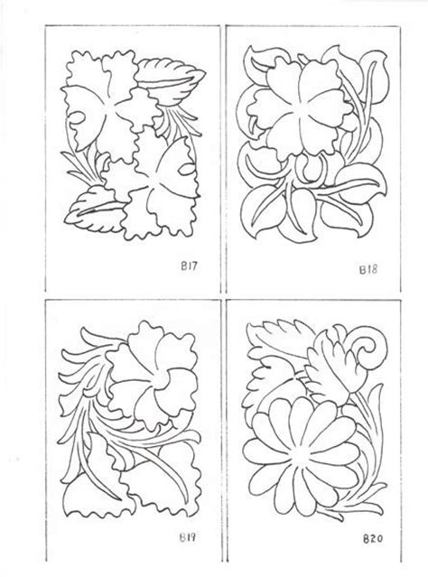 drawing pattern on leather drawing sheridan style patterns bing images floral