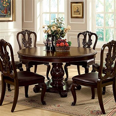 marisol cherry finish formal dining room table set formal dining room bally english style brown cherry