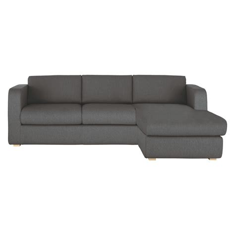 porto charcoal fabric reversible chaise sofa buy now at