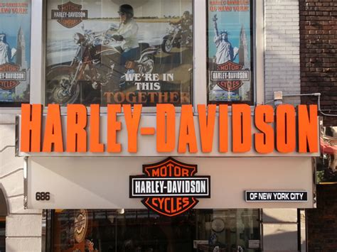 Harley Davidson Nyc Store by Harley Davidson Channel Letters Sign Expo Nyc