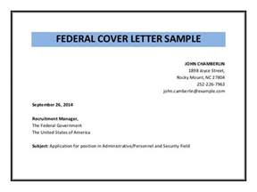 Cover Letter For Federal by Federal Cover Letter Sle Pdf