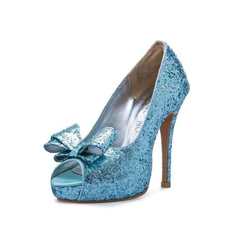 Prewalker Heels Sparkling Blue best glitter heels for wedding contemporary styles