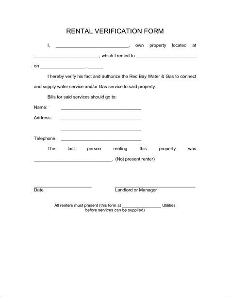 Letter For Rent Proof landlord verification form template it resume cover