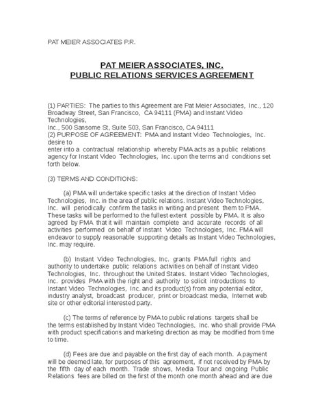 public relations sle contract hashdoc