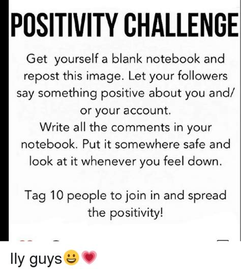 30 day positivity challenge positivity challenge get yourself a blank notebook and