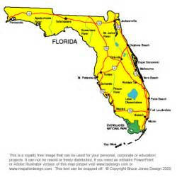 florida map of state capital florida map