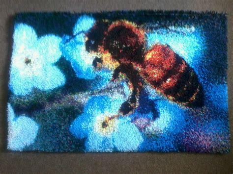 using iron on rug binding leftsource custom latch hook exles