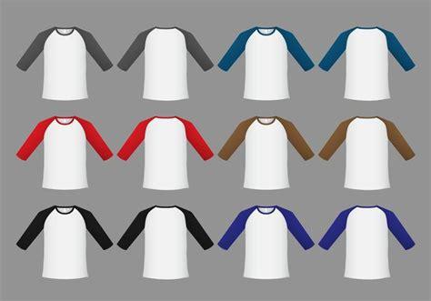 Kaos Logo Raglan raglan t shirt template vector free vector