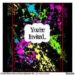 neon invitations templates neon invitations theruntime