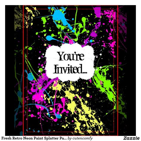 neon party invitations theruntime com