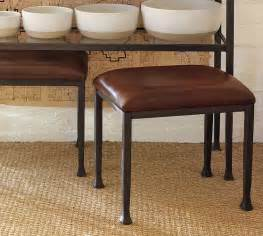 Pottery Barn Leather Bar Stools Leather Stool Bronze Finish Pottery Barn