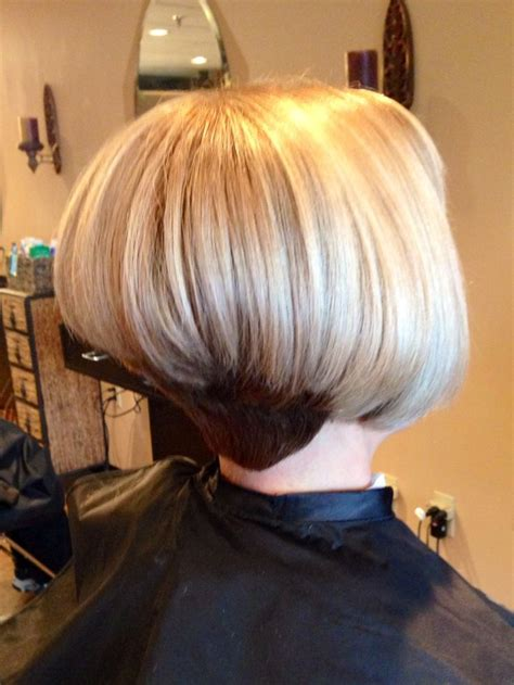 stacked inverted bob  bobhairstyle short hair