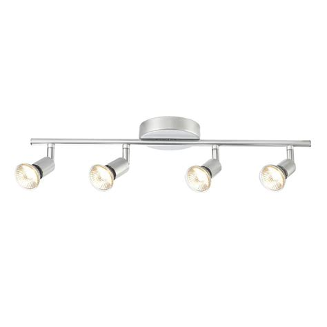 4 Light Track Lighting by Globe Electric Payton 4 Light Matte Silver Adjustable