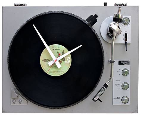 cool turntable wall clock shockblast recycled turntable clock cool material
